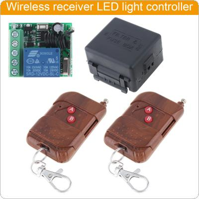 433Mhz Universal Wireless Remote Control Switch DC 12V 1CH with 2 Transttemirs for Electrical Equipment