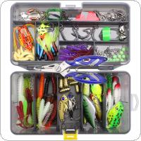 160pcs/lot Fishing Lures Kit Mixed Hard Lures Soft Baits Crank Hooks Rolling Swivel Connector Fishing Accessories Set with Box