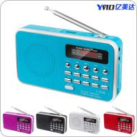 Multimedia Card Small Speaker Rechargeable Support TF Card and Audio Input Function for The Elderly