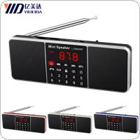 Portable Mini L-288 AMBT AM / FM Radio Rechargeable LCD Display Supports TF Card MP3 USB Disk