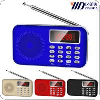 Subwoofer Y-619 Mini Portable Card Speaker Radio Support TF with AUX Input Hole for Elderly