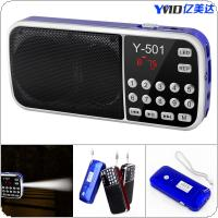 Y-501 FM Mini Radio Multi-function Card Speakers Support TF Card and Lighting for Family
