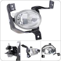 1 pcs Round Chrome Housing Clear Lens Left Side Front Bumper Fog Lamps for Honda CR-V CRV 2010-2011