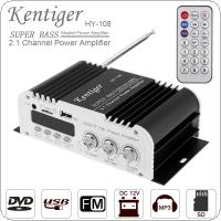 2.1CH HI-FI Car Audio High Power Amplifier FM Radio Player Support SD / USB / DVD / MP3 with Remote Controller for Car Motorcycle Home