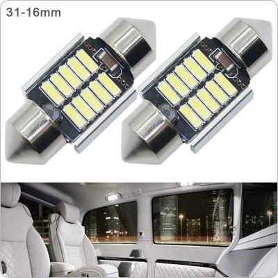 2pcs 31mm White Super Bright 5730 SMD Canbus Error Free Festoon LED Bulb Auto Interior Dome Lamp Car Styling Light