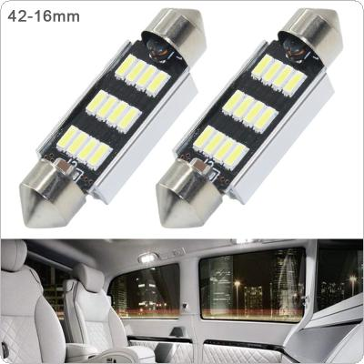 2pcs 42mm White Super Bright 5730 SMD Canbus Error Free Festoon LED Bulb Auto Interior Dome Lamp Car Styling Light