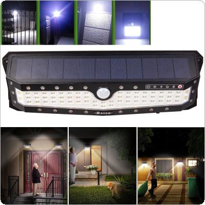 Waterproof 79 LED 2835 SMD Solar Power PIR Motion Sensor Wall Light with 3 Modes and Three-sided illumination for Garden / Pathway / Yard