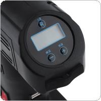 12V 25L/Min Portable Vehicular Wireless Dual Purpose Digital Display Multifunctional Electric Inflating Pump Support USB Charge with 4 LED Light / Four Nozzle