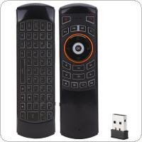 X6 USB 2.4GHz Backlit Air Mouse with Acceleration Sensor and Wireless Keyboard for Mini PC TV Box