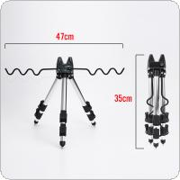 Aluminum Alloy Telescopic 7 Groove Fishing Rod Holder Collapsible Tripod Stand Sea Fishing Pole Bracket