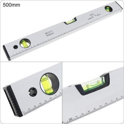 500mm Precision Magnetic Aluminum Alloy Level Ruler with Blister Design and Mm Scale for Building Decoration Measurement