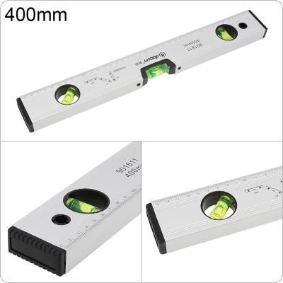 400mm Precision Magnetic Aluminum Alloy Level Ruler with Blister Design and Mm Scale for Building Decoration Measurement