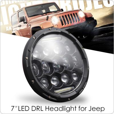 7 Inch 300W  LED Headlights  High Low Beam with Daytime Running Light (DRL) for Jeep Wrangler