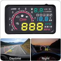 5.5 Inch Auto OBDII OBD2 Port Car Hud Head Up Display KM/h MPH Over Speed Warning Windshield Projector Alarm System