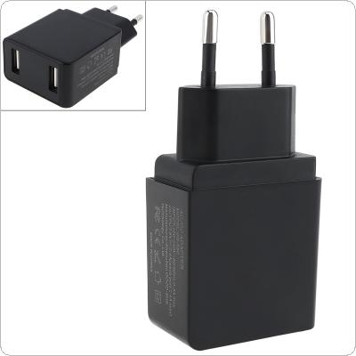 Heat Resistant Mini Double USB Charger 5V 2.4A EU Plug Charger With LED Display and Automatic Power-Off  for Mobile Phone / Tablet