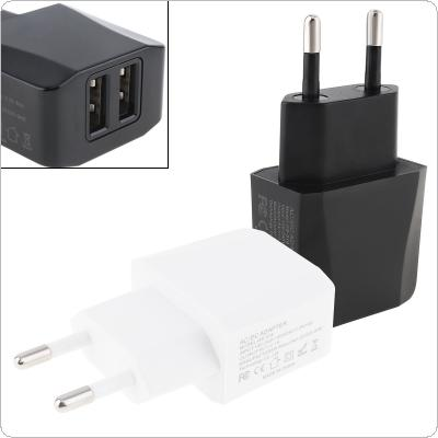 Heat Resistant Travel Mini Double USB Charger 5V 2.1A EU Plug Charger Adapter for Mobile Phone / Tablet