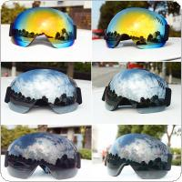 Windproof Anti-fog Large Spherical Ski Glasses HD UV Goggles Snow Skiing Snowboard Motocross Cycling Eyewear 3 Colors Optional