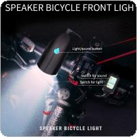 D5588 750LM LED T6 Micro USB Charging Speaker Bicycle Light with 140 db Horn Bike Bell and Horn Switch Support 3 Modes Light for Bicycle