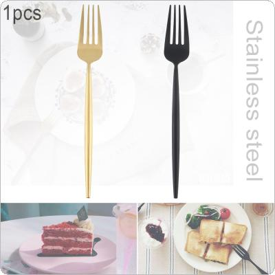 2 Colors Universal Thickened Long Handle Simple Pure Color 304 Stainless Steel Tableware Dessert Fork for Kitchen Food Tableware Dinnerware