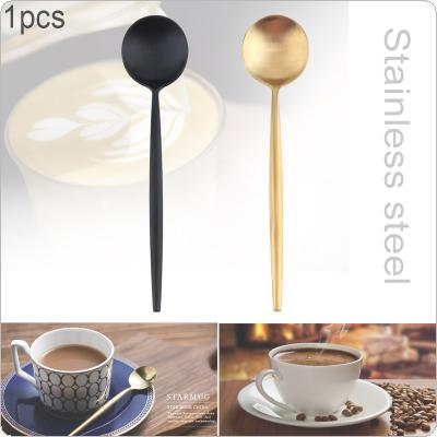 2 Colors Universal Thickened  Simple Pure Color 304 Stainless Steel Tableware Coffee Spoon  for Kitchen Food Tableware Dinnerware