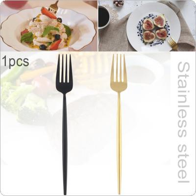 2 Colors Universal Thickened Long Handle Simple Pure Color 304 Stainless Steel Tableware Fork for Kitchen Food Tableware Dinnerware