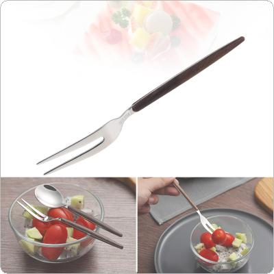Universal Small Exquisite Thickened Wood Grain Pattern 304 Stainless Steel Tableware Fruit Fork for Kitchen Food Tableware Dinnerware