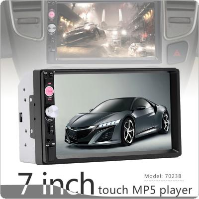 7 Inch 2 DIN Bluetooth In Dash HD Touch Screen Car Video FM Radio Stereo Player Support Aux In / Rear View Camera for iPhone and Android Mirror Link