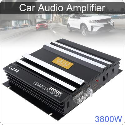 3800W Class AB Digital 2 Channel Black Aluminum Alloy High Power Car Stereo Amplifiers
