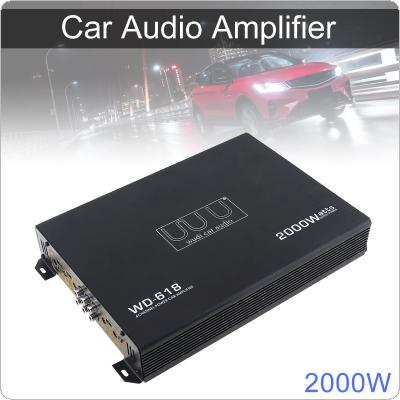2000W Class AB Digital 4 Channel Black Aluminum Alloy High Power Car Stereo Amplifiers for Car