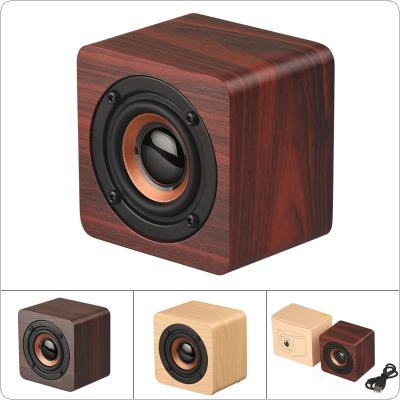 Q1 3W Wooden Mini Wireless 4.2 Bluetooth Speaker with 10M Connection Distance for Smartphone / PC