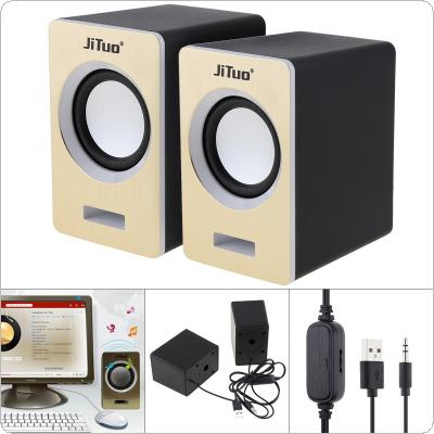 JT-2614 Mini USB 2.0 Speakers with 3.5mm Stereo Jack and USB Powered for PC / Laptop / PSP / MP3 / MP4