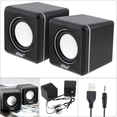 JT-2600 6W Mini USB 2.0 Speakers with 3.5mm Stereo Jack and USB Powered for PC / Laptop