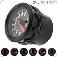 52MM 2Inch Dual Display 12V 20~140 Degree Celsius Universal Car Motor Gauge Water Temperature Meter 7 Color Backlight