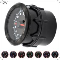 52MM 2Inch 10000 RPM Universal Electrical Car Tacho Gauge Meter Tachometer with Seven Color Backlight for 12V Car