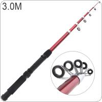 3.0m Glass Fiber Telescopic Fishing Rod Sea Pole Travel Sea Rock Rods