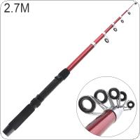 2.7m Glass Fiber Telescopic Fishing Rod Sea Pole Travel Sea Rock Rods
