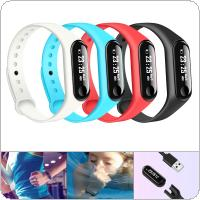 M3L Touch Screen Time Smart Wristband with Detachable Strap and Hidden USB Charging Port for IOS / Android