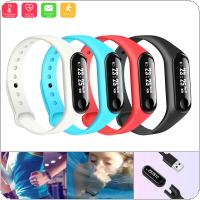 M3 Touch Screen Time Smart Wristband with Heart Rate Test and Sleep Reminder for IOS / Android