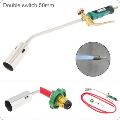 50mm Double Switch Type Liquefied Gas Torch Welding  Gun Support Oxygen Acetylene Propane for Barbecue / Hair Removal