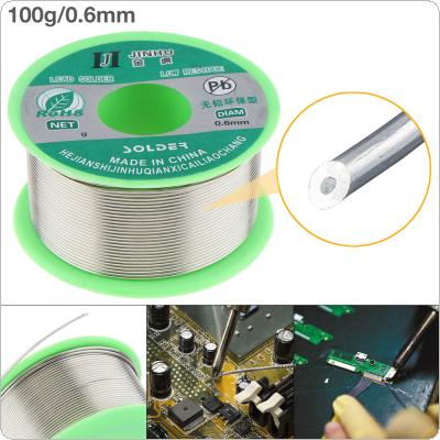 100g 0.6mm 99.7% Sn 0.03% Cu Environmental Friendly Lead-free Rosin Core Solder Wire with Flux and Low Melting Point for Electric Soldering Iron