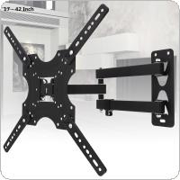 Universal 22KG Adjustable Frosted Material TV Wall Mount Bracket Flat Panel TV Frame with Small Wrench and Cable Clip for 17 - 42 Inch LCD LED Monitor