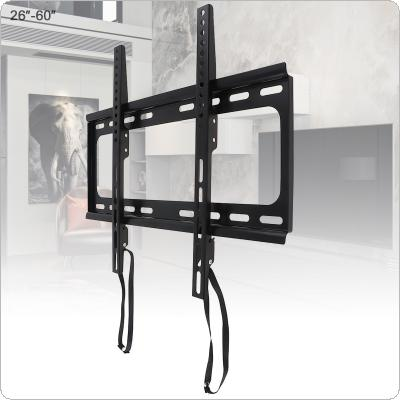 Universal 45KG 1.5mm Cold Ligation Board TV Wall Mount Bracket Flat Panel TV Frame with Pull Rope for 26 - 60 Inch LCD LED Monitor Flat Pan