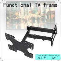 Universal 50KG Adjustable TV Wall Mount Bracket Flat Panel TV Frame Support 15 Degrees Tilt with Small Wrench for 26 - 56 Inch LCD LED Monitor