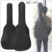 40/41 Inch Oxford Fabric Guitar Case Gig Bag Double Straps Padded 5mm Cotton Soft Waterproof Backpack