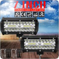 12000LM 7 Inch 120W Led Work Light Bar 6000K White Waterproof  for Off-Road Suv Boat 4X4 Jeep JK 4Wd Truck 12V-24V