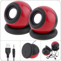 G-116 5W Mini USB 2.0 Speakers with 3.5mm Stereo Jack and USB Powered for PC / Laptop / Smartphone