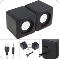 101Z USB 2.0 Speakers with 3.5mm Stereo Jack and USB Powered for PC / Laptop / Smartphone