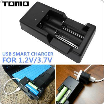 TOMO V6 Multifunctional 3.7V / 1.2V Smart Charger with Micro USB Interface for AA / AAA / 18650 / 16340 / 14500 / 18500 Battery