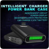 TOMO S4 USB Li-ion Intelligent Battery Charger Portable LCD Smart DIY Mobile Power Bank Case Support 4 x 18650 Batteries and 3 Different Input Interfaces