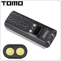 TOMO Q2 USB Li-ion Intelligent Battery Charger Portable LCD Smart DIY Mobile Power Bank Case with Flashlight Function Support 2 x 18650 Batteries for Smartphone